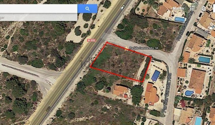 Land for sale, located on the nacional road N-332, in Calpe, Alicante